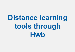 Distance learning tools through Hwb